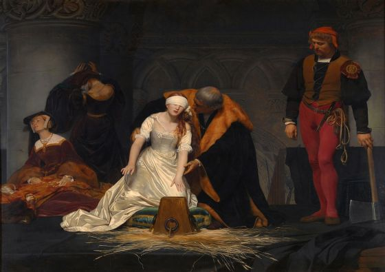 Delaroche, Paul (Hippolyte): The Execution of Lady Jane Grey. Fine Art Print/Poster. Sizes: A4/A3/A2/A1 (00598)